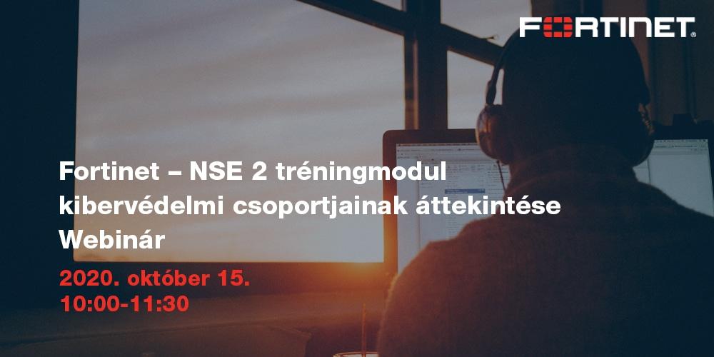 NSE 2 tréningmodul kibervédelmi csoportjainak áttekintése